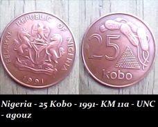 Nigeria - 25 Kobo - 1991- KM 11a - UNC - Agouz - Nigeria