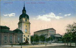 AK Darmstadt, Neues Museum U. Hoftheater, Um 1918, Einriss Links Rückseitig überklebt (14889) - Darmstadt
