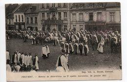 FREVENT (62) - REMISE DE DECORATIONS AU 2e SPAHIS MAROCAINS 24 JANVIER 1915 - Autres Communes