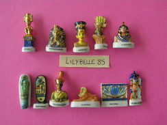 Série Complète De 11 Fèves En Porcelaine - TRESORS D' EGYPTE 2003 ( Feve ) - History