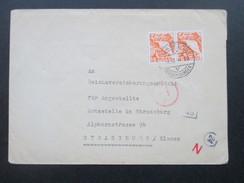 Schweiz 1944 Zensurpost Mehrfachzensur Der Wehrmacht. Zensurstempel:Ad / 46 / 24 / N. Nach Strassburg Elsass. Nr.300 Mef - Briefe U. Dokumente
