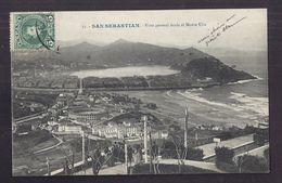 CPA ESPAGNE - SAN SEBASTIAN - SAINT-SEBASTIEN - Vista General Desde El Monte Ulia - TB PLAN - Guipúzcoa (San Sebastián)