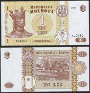 Moldova DEALER LOT ( 10 Pcs ) P 8 F - 1 Leu 2005 - UNC - Moldavia