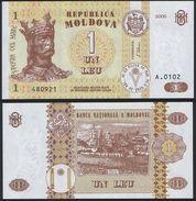 Moldova DEALER LOT ( 10 Pcs ) P 8 G - 1 Leu 2006 - UNC - Moldavia