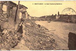 CPA N°7939 - MONTAUBAN - LE QUAI FAUBOURG SAPLACOU - MILITARIA 14-18 - Montauban