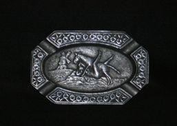 Ancien Cendrier érotique Pornographique Aluminium Fin XIX ème - Metal