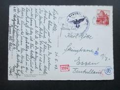 Schweiz 1943 Ansichtskarte Chur, Hof U. Martinskirche. Zensur Der Wehrmacht. Mehrfachzensur! - Briefe U. Dokumente