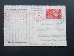 Schweiz 1941 Pro Patria Nr. 397 EF AK Schäfer / Abendfriede Im Parsenngebiet. Mehrfachzensur Der Wehrmacht. B.R.B. 3.10. - Briefe U. Dokumente