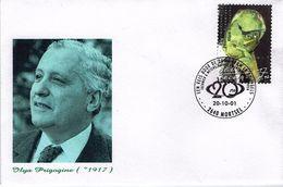 Belgien Belgie Belgium 2001 - Ilya Prigogine - Belgischer Physikochemiker, Nobelpreis 1977 - Lettres & Documents