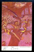 D. Inkiostri - Boj Sokola S Hadem 2 / A.W.II. - 3 - S.I. / Postcard Not Circulated, 2 Scans - Künstlerkarten