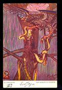 D. Inkiostri - Boj Sokola S Hadem 3 / A.W.II. - 4 - S.I. / Postcard Not Circulated, 2 Scans - Künstlerkarten