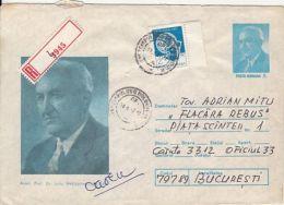 64721- DOCTOR IULIU HATIEGANU, MEDICINE, HEALTH, REGISTERED COVER STATIONERY, 1987, ROMANIA - Medicina