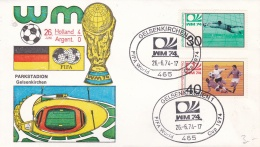 Germany Cover 1974 World Cup Football FIFA - Gelsenkirchen Netherlands - Argentina 4:0 (DD5-11) - Coppa Del Mondo