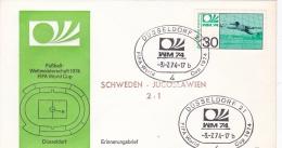 Germany Cover 1974 World Cup Football FIFA - Düsseldorf Sweden - Yugoslavia 2:1   (DD5-11) - Coppa Del Mondo