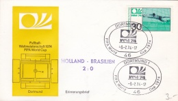 Germany Cover 1974 World Cup Football FIFA - Dortmund Netherlands - Brazil 2:0  (DD5-11) - Coppa Del Mondo
