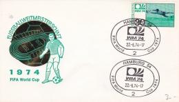 Germany Cover 1974 World Cup Football FIFA - Hamburg  (DD5-11) - Coppa Del Mondo