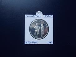 COREA DEL SUR 1987, 5.000 WON, KM-61, SILVER, SC-UNC.PROOF - Korea (Zuid)