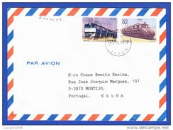 TRAINS/ LOCOMOTIVES - Cover Japan/ Nippon To Portugal - Trains