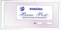 Romania, 1997, Vintage Bank Checkbook / Term Savings Book - Banc Post - Cheques & Traverler's Cheques