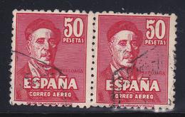 Spagna  1947 Posta Aerea Yv. 237 Zuloaga Spendita Coppia Us.ben Centrata Non Comune - Usati