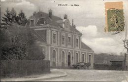58 - Decize - La Gare (animée, Timbre) - Decize