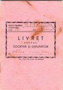 """Romania, 1946, """"Solidaritatea"""" Cooperative Bank - Status And Deposit Book - Cheques & Traverler's Cheques"""