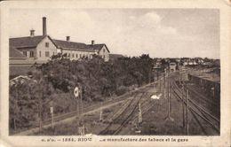 63 - Riom - La Manufacture Des Tabacs Et La Gare (1933) - Riom