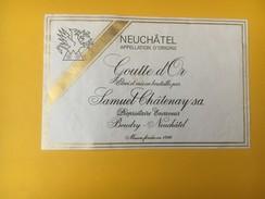 4926 - Goutte D'Or Samuel Châtenay Boudry Neuchâtel  Suisse - Autres