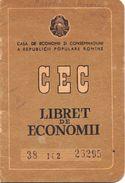 Romania, 1962, Vintage Bank Checkbook / Term Savings Book, CEC - RPR - Cheques & Traverler's Cheques