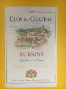 4945 - Clos Du Château 1992 Bursins Vaud Suisse - Etiquettes