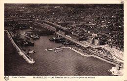 MARSEILLE -13- LES BASSINS DE LA JOLIETTE VUS EN AVION - Joliette, Port Area