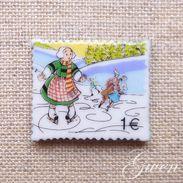 Feve Bd Bécassine Timbre Miniature Porcelaine Feves - Strips
