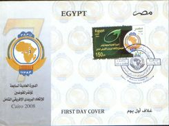 Egypt - 7-th Ordinary Session Of PAPU(UPAP) Plenipotentiary Conference Cairo 2008, Fdc - Egypt