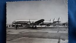 CPSM AEROPORT MARSEILLE MARIGNANE  AIR FRANCE AVION SUPER CONSTELLATION - 1946-....: Era Moderna