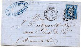 Calvados - LAC Affr N° 22 Obl Ambulant C P - Càd Type 15 Gare De Caen - Marcophilie (Lettres)