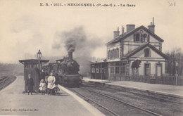 HESDIGNEUL   La GARE  ( Plan Animé Dont TRAIN  ) - Frankreich