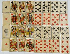Ancien Jeu De 32 Cartes à Jouer Sans Chiffre Republique Française Cachet Taxe Décision Ministerielle 20 Sept 1920 - 32 Cards