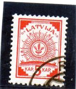 B - 1919 Lettonia - Simbolo (su Cartageografica) - Lettonia