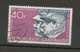 GABON - 30 ANS DE LA CONFERENCE DE BRAZZAVILLE - N° Yvert PA 145 Obli. - Gabon (1960-...)