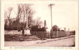 17 - SAINT NAZAIRE Sur CHARENTE -- Le Monument Aux Morts - Altri Comuni