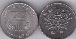 Korea South - 100 Won 1981 UNC / AUNC 1st Ann. Of The 5th Republic Lemberg-Zp - Corea Del Sud