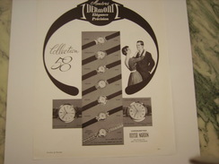 ANCIENNE PUBLICITE MONTRES DERMONT 1958 - Autres