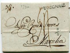 LIVOURNE Pour MARSEILLE LAC Du 10/12/1790  Linéaire  TOSCANNE  Taxe De 54 ?? (2 Scans) - Postmark Collection (Covers)