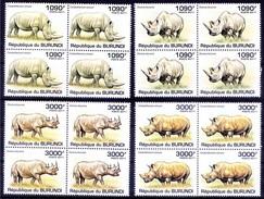 BURUNDI 2011 MNH 4v In Blk 4, Rhino, Wild Animals - Rhinozerosse