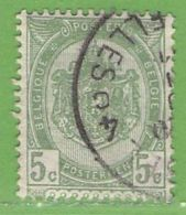 MiNr.52  O Belgien - 1893-1900 Schmaler Bart