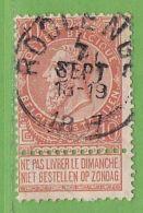 MiNr.53  O Belgien - 1893-1900 Schmaler Bart