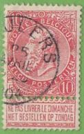 MiNr.67  O Belgien - 1893-1900 Schmaler Bart