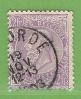 MiNr.70 O Belgien - 1893-1900 Schmaler Bart
