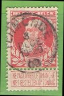 MiNr.71 O Belgien - 1905 Breiter Bart