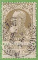 MiNr.72 O Belgien - 1905 Breiter Bart